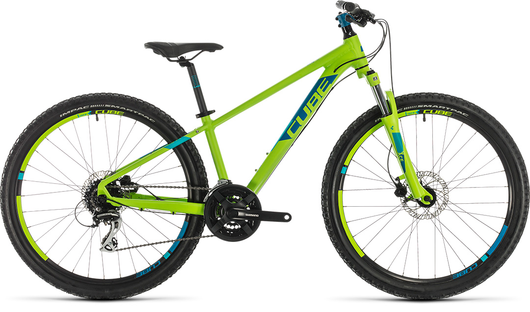 2020 Cube Acid 260 Disc Childs Bike In Green 163 449 00